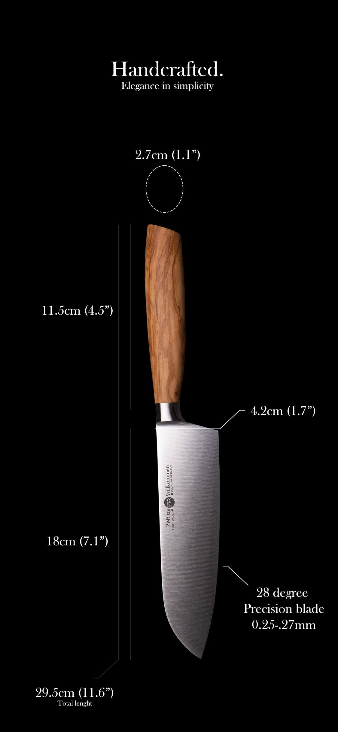 FVR Santoku Knife Specification