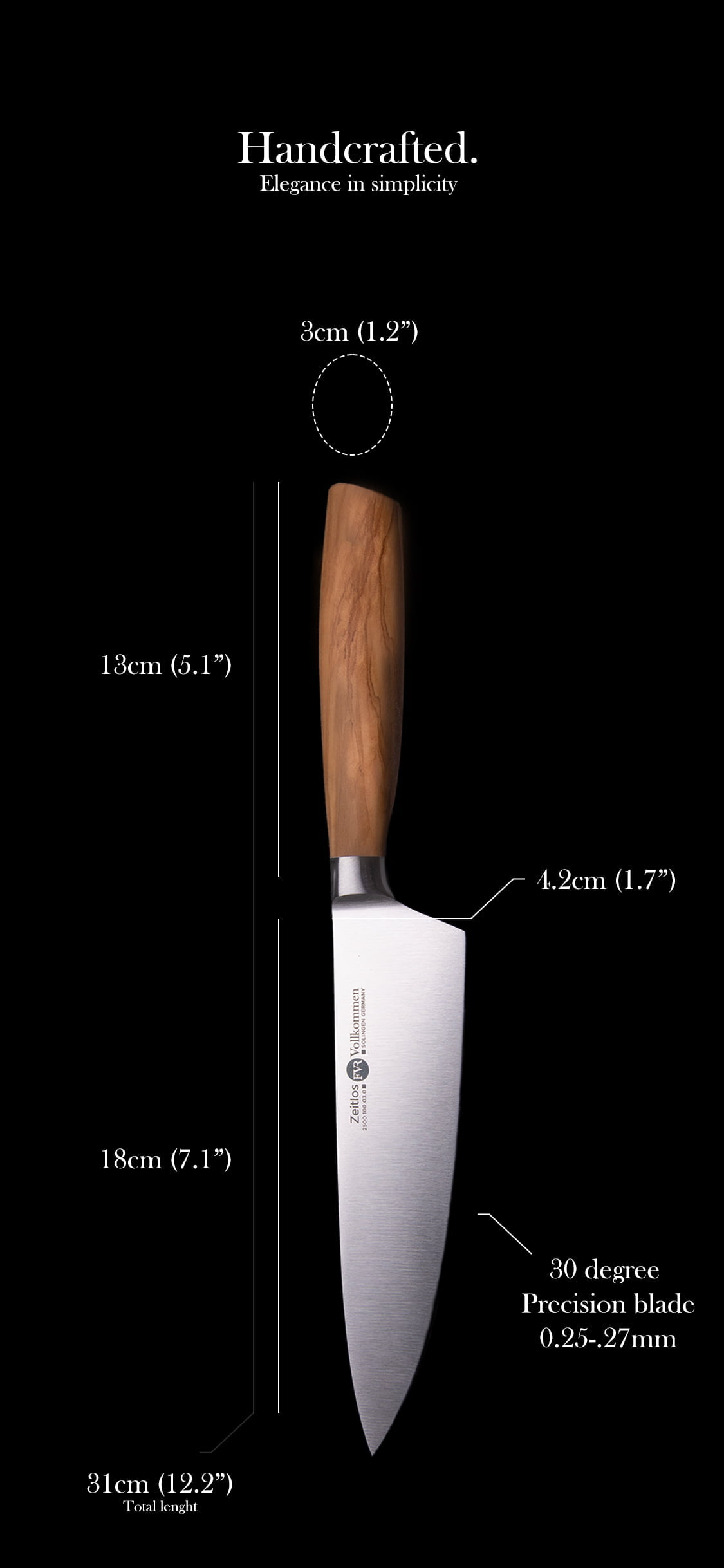 Chef's Knife Specifications