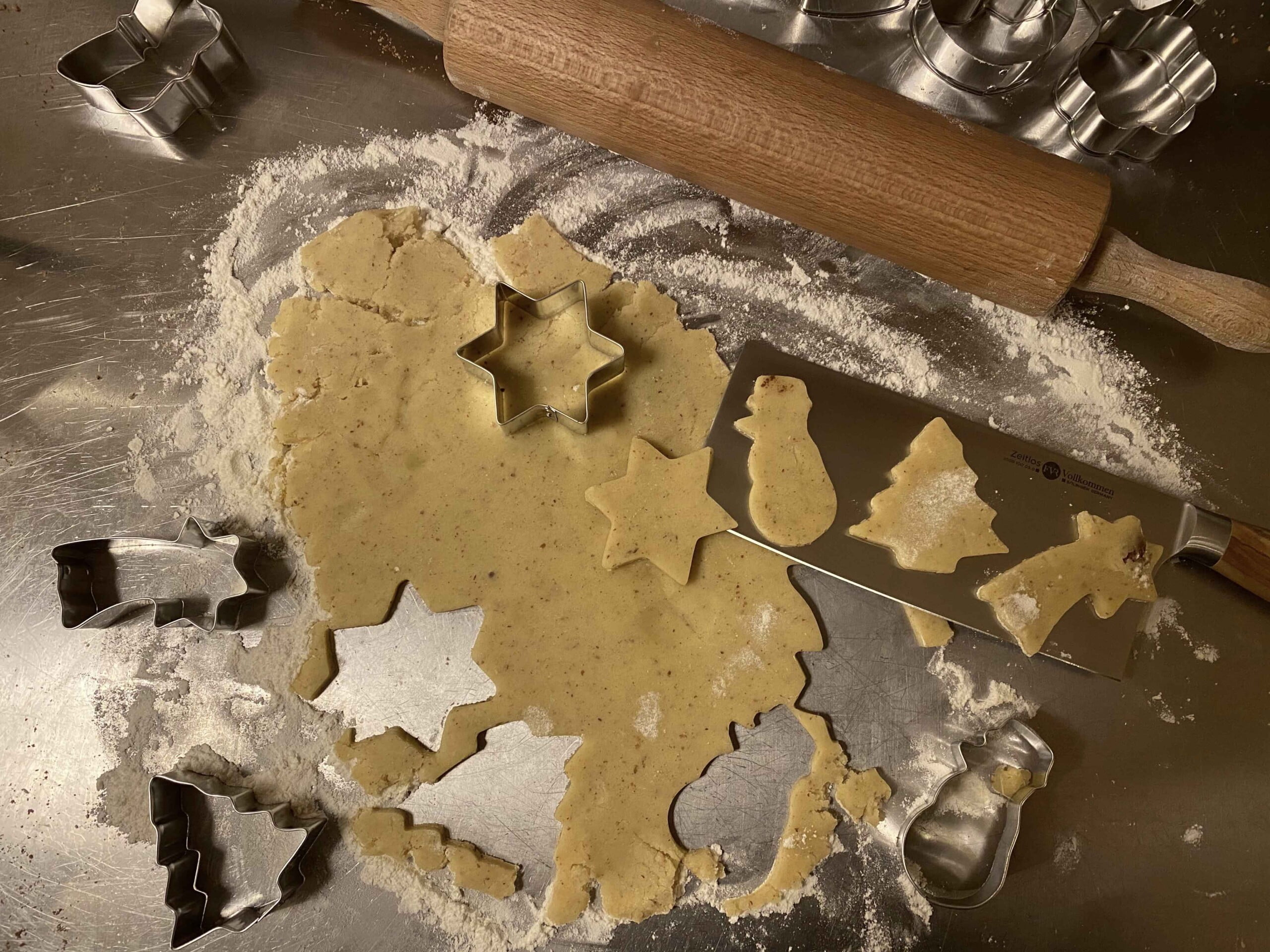 Cut cookies in stars