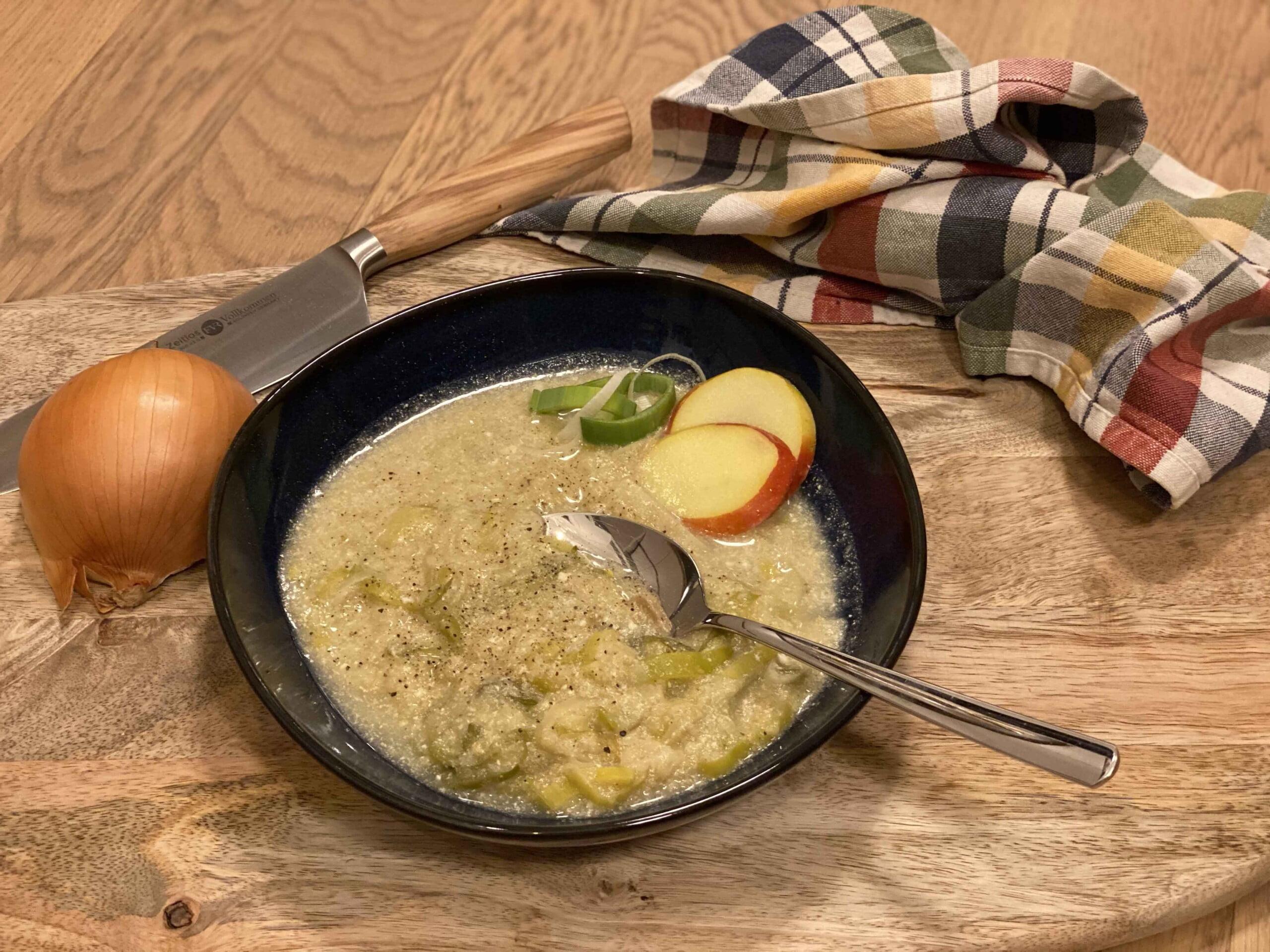 Apple Leek Soup
