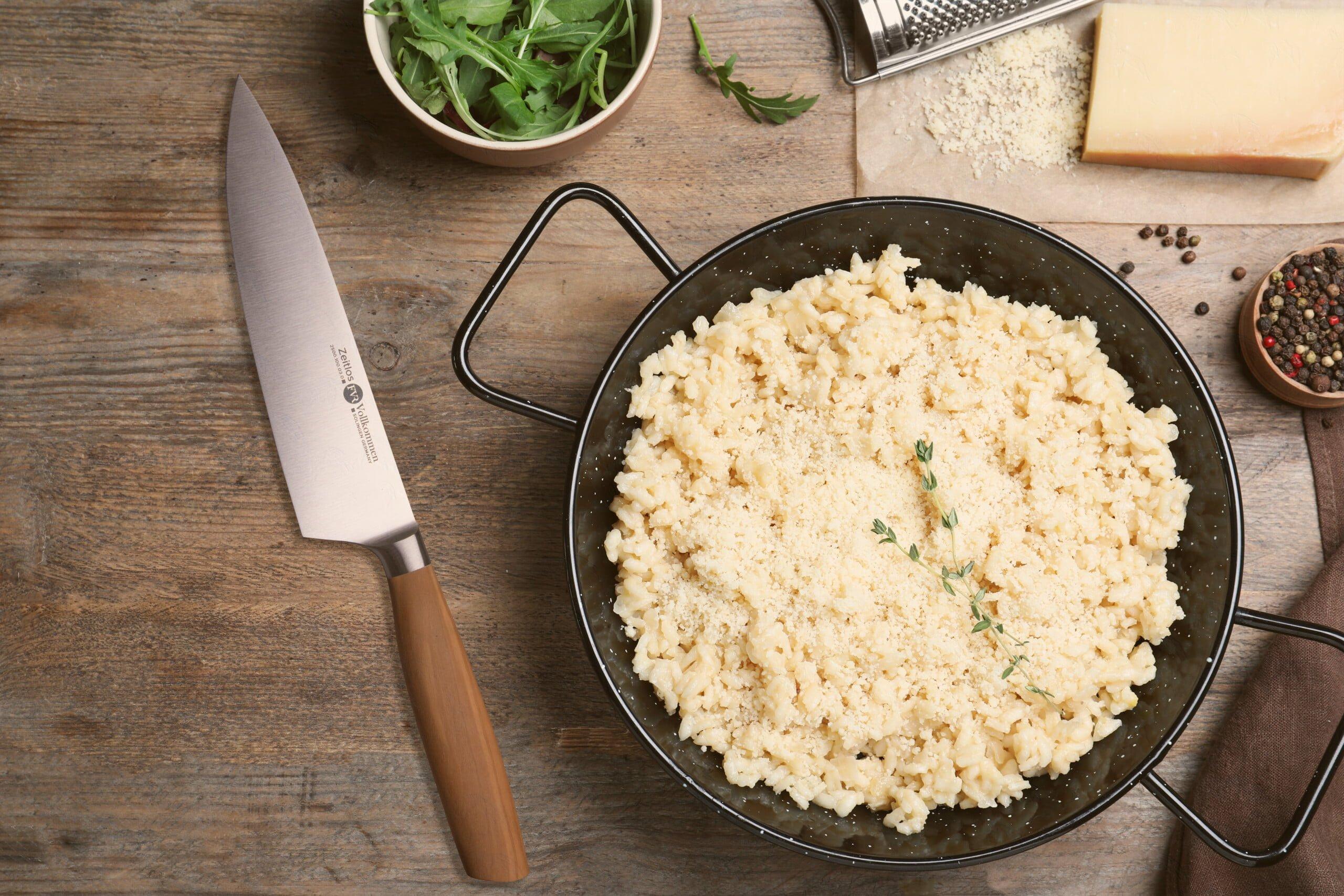 garlic parmesan risotto
