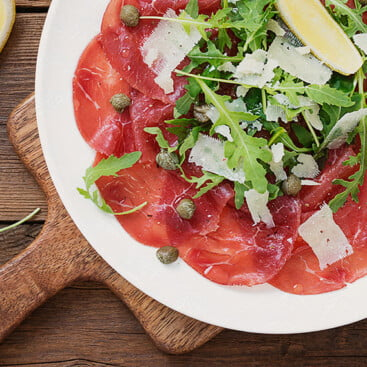 Bresaola with Rucola with FVR Knife