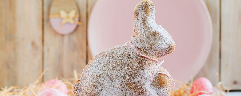 Easter bunny eggnog cake banner