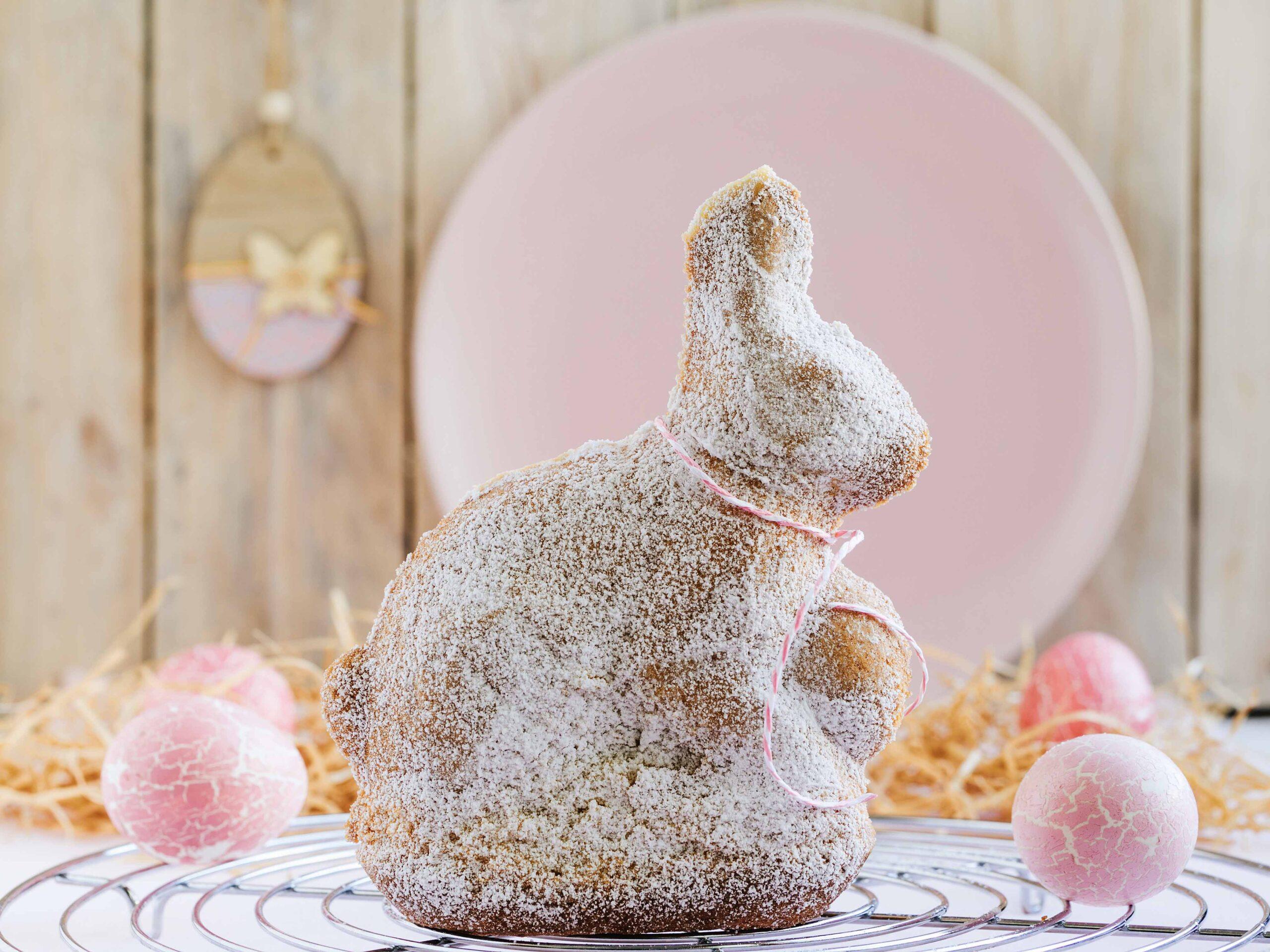 Easter bunny eggnog cake